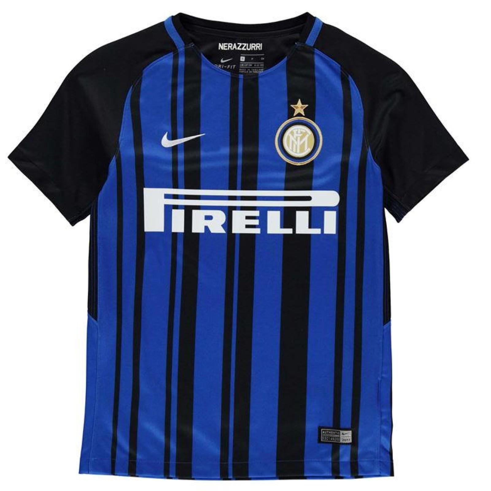 buy popular daf10 8a820 Childrens Inter Milan Home 2017/18 Football Kit | Free Shirt ...